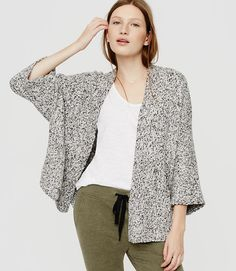 Image of Lou & Grey Snowdust Cardigan color Black / White Marl