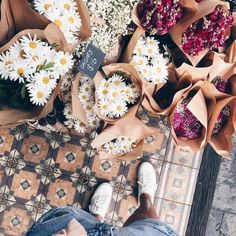 I want all these bunches of flowers!