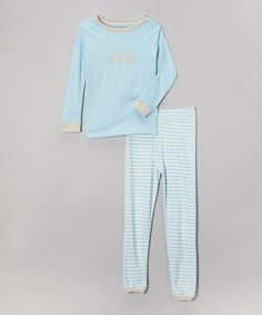 Another great find on #zulily! Dream Blue Stripe Organic Pajama Set - Infant, Toddler & Boys #zulilyfinds