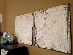 Somewhere Between Rustic & Shabby: Good Ol' Tin Ceiling Tiles