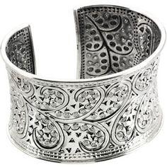 Fashion Cuff Bracelet in Sterling Silver Fashion Bracelets, Bangle Bracelets, Necklaces, Fashion Jewelry, Jewelry Gifts, Fine Jewelry, Sterling Silver Cuff Bracelet, Silver Bangles, Silver Jewelry