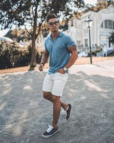 The Best Men's Summer Outfits For Every Occasion - Mens fashion summer - Trendy Mens Fashion, Mens Fashion Suits, Men Summer Fashion, Style Fashion, Fashion Ideas, Summer Men, Men Summer Style, Mens Summer Shorts, Men's Casual Fashion