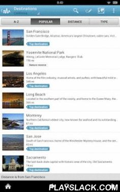 California Guide By Triposo  Android App - playslack.com , Features of Triposo's guide to California:★ Suggestions of what's interesting to see and do in California, depending on time, weather and your location;★ A detailed sights section with all the monuments of San Francisco, Los Angeles, Santa Monica, Beverly Hills;★ Eating out section with the best restaurants in San Francisco, Los Angeles, Santa Monica, Beverly Hills;★ Discover the nightlife of California! Bars, pubs & disco's in…