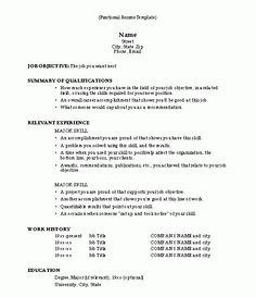 Functional Resume Template Examples Career Objectives For Resumes Sample Resume Objective Any