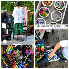 Kids Art Supply Cart | #backtoschool rolling storage activity cart #michaelsmakers @michaelsstores #michaelshaul