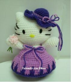 Hello Kitty Amigurumi, Hello Kitty Crochet, Amigurumi Doll, Amigurumi Patterns, Crochet Patterns, Crochet Crafts, Crochet Dolls, Free Crochet, Knit Crochet
