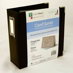 Here's a great way to store all those cards that you're making for friends and family! The Black Card Saver Greeting Card Storage Binder is by Totally Greeting Card Book, Greeting Card Holder, Greeting Card Organizer, Greeting Card Storage, Vintage Greeting Cards, Holiday Storage, Scrapbook Storage, Old Cards, Corporate Gifts
