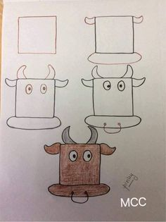 Kids friendly drawings with squares as a base All the lovely kids there .Kids friendly drawings with squares as a bas Easy Drawings For Beginners, Easy Drawings For Kids, Simple Drawings, Alphabet Drawing, Easy Art For Kids, Person Drawing, Body Drawing, Teaching Drawing, Drawing Lessons For Kids