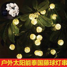 New Solar LED Light String Thailand Sepak Takraw string lights garden lights garden lights decorative lights string of holiday lights