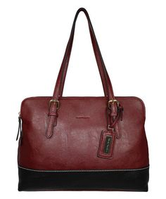 Loving this Bordeaux & Black Lumi Satchel on #zulily! #zulilyfinds