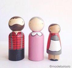 Little Red peg doll set