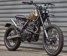 New Baby on the Block: Honda NX650 by @jambonbeurremotorcycle of France. Saddle by @maximus.paris. _________________ #honda #nx650 #650cc #dominator #dualsport #enduro #dirtbike #scrambler #tracker #streettracker #builtnotbought