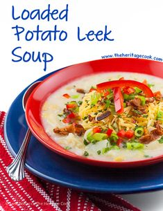 Comfort soup packed with all the flavor of loaded baked potato - French Classic Potato-Leek Soup