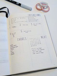 Here's a look at my April 2017 Bullet Journal/Bujo Monthly Layout Overview. This has my month chore tracker, Up Next section, Goal Setting and Level 10 Life review that helps me maintain intention and plan my life.