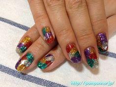 Nail glistening metallic lame