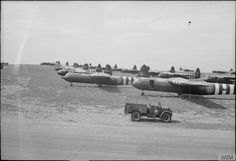 Horsa gliders waiting to be loaded for D Day, 4th - 5th June 1944