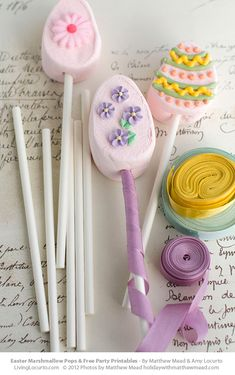 Easter Marshmallow Pops & Free Printable Tags