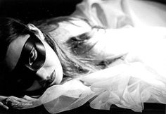 The Masked Woman Black and White Art by KalstekPhotography on Etsy, $25.00