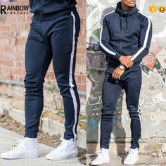 Sweatpants Confident Hzijue 2018 New Mens Sportswear Pants Side Stripe Zipper Men Campus Style Sweatpants Elastic Waist Sweatpants Unisex All Seasons Outstanding Features