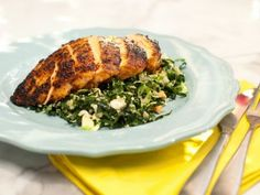 On The Kitchen: Chile-Rubbed Chicken Breast with Kale, Quinoa and Brussels Sprouts Salad