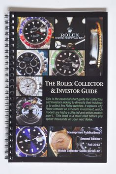 Three Watch Collector Books Has Rolex Gmt & Omega Speedmaster Chronograph Data+