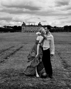 Photographer: Patric Shaw Models: Louise and David Location: Houghton Hall in Norfolk, England