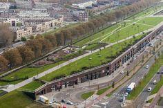 Dakpark in Delfshaven, Rotterdam Landscape Architecture, Landscape Design, Vertical Farming, Urban Fabric, Modern City, Facade Design, Rotterdam, Urban Planning, Green Building
