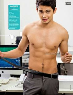 Filipino Actor (Robert) James Reid (b. 11 MAY Sydney, Australia) James Reid, Young Celebrities, Young Actors, Asian Boys, Asian Men, Pinoy Hunks, Filipino Models, Hot Hunks, Shirtless Men