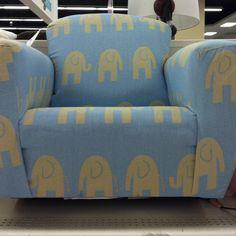 Blue elephant chair, perfect for a nursery