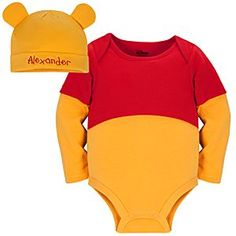 Winnie the Pooh Disney Cuddly Bodysuit Set for Baby - Personalizable