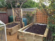 Railway Sleepers raised bed. (But imagine with a rigid pond fitted instead)
