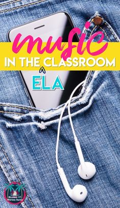 Music in the classroom! Here are 13 specific ideas for making it meaningful in ELA. #MiddleSchoolEnglish #HighSchoolEnglish #MusicintheClassroom