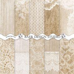 Fall Digital Paper, Digital Paper Wood, Wood Digital Background, Wood and Lace Digital Paper, Wedding Digital Paper, #14059B by BaerDesignStudio on Etsy