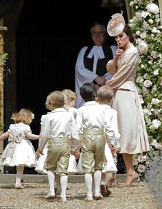 The Duchess tells the little ones to keep the noise down as the page boys and bridesmaids ...