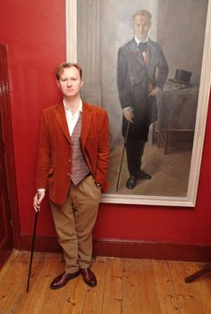 If that isnt actually a painting of Mr. Gatiss, it sure as heck looks like one.  Check out the website