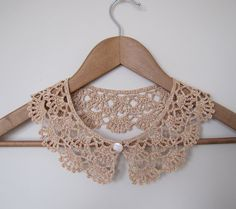 Hey, I found this really awesome Etsy listing at http://www.etsy.com/listing/126869377/sale-coffee-latte-lace-crochet-collar