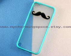 Mustache Ipod touch 5 case black mustache phone by MyCharmingSpace, $8.99