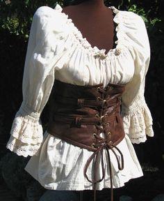 Lola ama cuoio STEAMPUNK, pirata, gotico Extra larga cintura