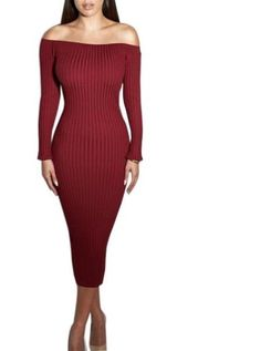 Long Sleeve Off Shoulder Dress https://it.stylect.com/collections/dresses/products/fashion-long-sleeve-off-shoulder-slash-neck-sexy-club-women-dress-slim-bodycon-knitted-sweater-knee-length-party-night-dresses
