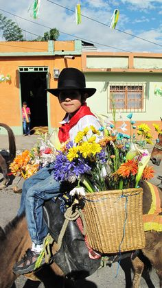 Niño Campesino #Flowers #Colombia