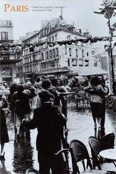 Dancing in the rain in Paris