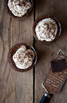 Chocolate Pudding Dusted with Dark Chocolate. Chocolate overload. xx Dressed to Death xx #foodie #love #dessert