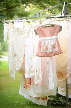 Circular Wash-line / Vintage style clothes-pin bag.