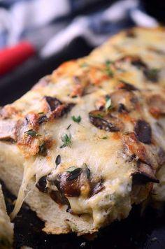 Herb Mushroom Cheese Bread - a supper club recipe!  Very good!