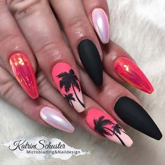 """Visit our website for even more relevant information on """"top nail art designs It is an exceptional location to find out more. Cute Acrylic Nails, Acrylic Nail Designs, Fun Nails, Nail Art Designs, Nails Design, Beach Nail Designs, Pedicure Designs, Tree Designs, Love Nails"""