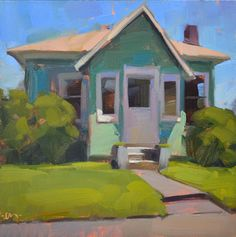 Little House - Original Fine Art for Sale - © by Carol Marine Her undertone is a peachy pink which lights the painting up Landscape Art, Landscape Paintings, Guache, Paintings I Love, Art Paintings, Fine Art Auctions, Wow Art, Fine Art Gallery, Oeuvre D'art