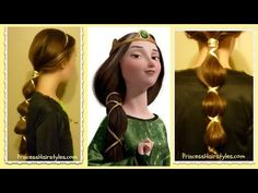 #Disney #Brave inspired Queen Elinor hair tutorial. #Halloweenhair idea.