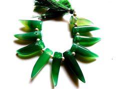 AAAQuality Green Onyx Smooth Plain Fancy by GemsPebblesandBeads, $38.00