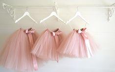 Long rose gold Tutu, Flower Girl Dress, dusky blush tutu, Flower Girl blush tutu, Girls Tutu, Bridesmaid Tutu, Wedding Tutu, Tulle Skirt