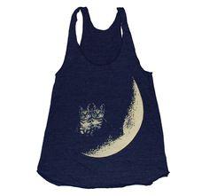 Moon Cats Tank by BurgerAndFriends on Etsy.